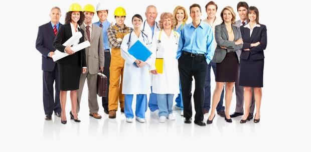 travailleurs heureux